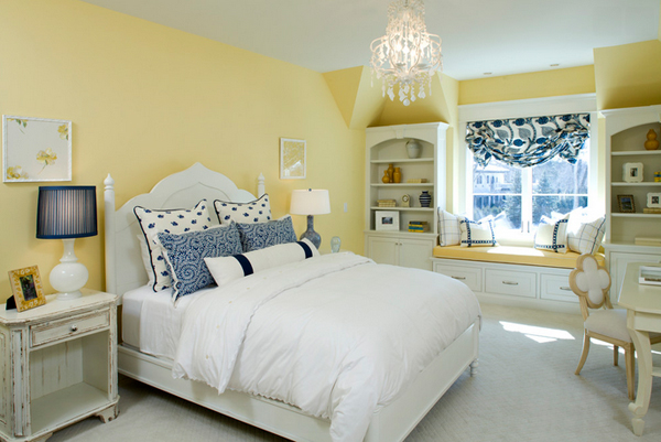 Blue and Yellow Accents bedroom