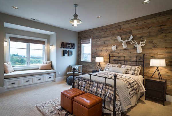 20 Fantastic Bedrooms with Pallet Walls | Home Design Lover on Pallet Bedroom Design  id=26037