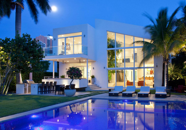night house lighting
