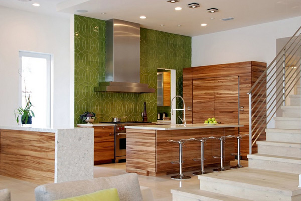 eye-catching kitchen wall