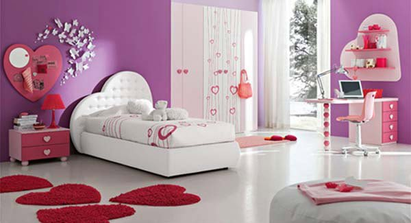 Bedroom Pink Hearts
