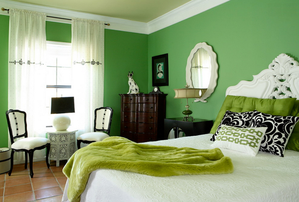 20 Wishfully Beautiful White and Green Bedrooms | Home ...