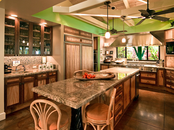 green Hawaiian kitchen