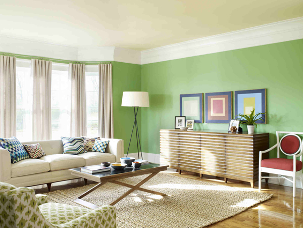 Light green walls