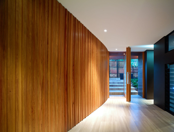 wooden frame wall