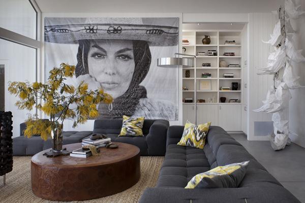 dark gray sofa set