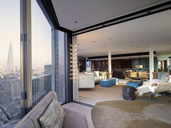 spacious penthouse