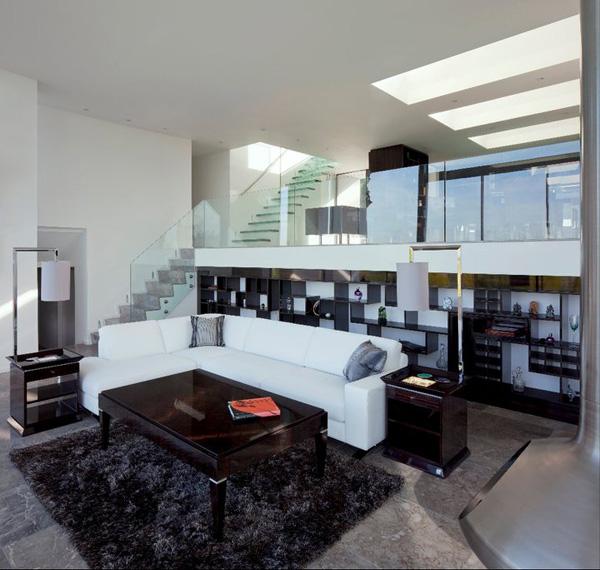 black white sofa set