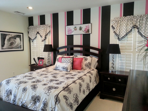 Beau 7. Contemporary Black And Pink Bedroom