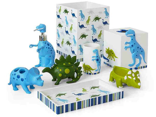 Kids Bathroom Accessories Sets. Dino Land