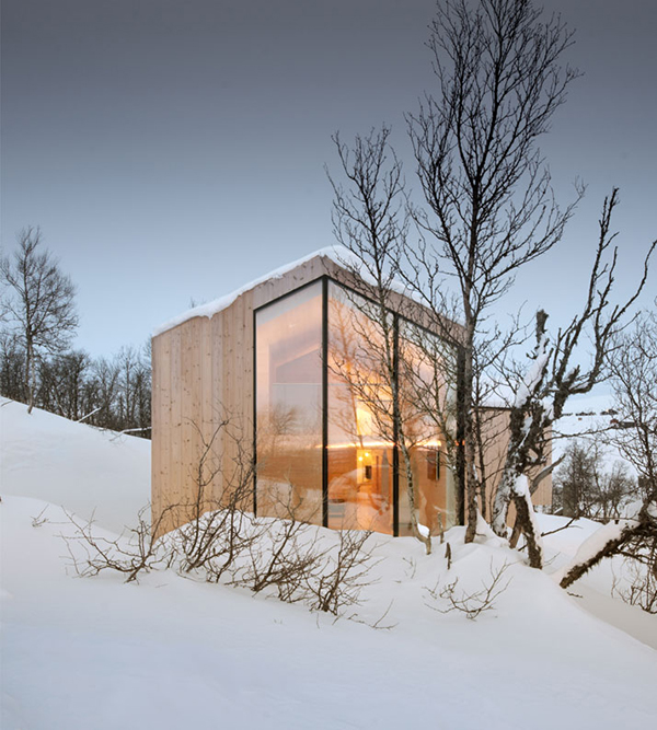 snow winter house