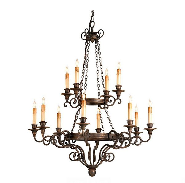 Galleon Bronze Light Chandelier