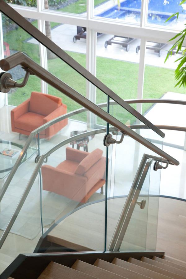 glass stainless steel railings