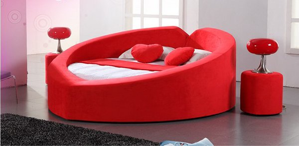 Heart-shape Fabric Bed Set