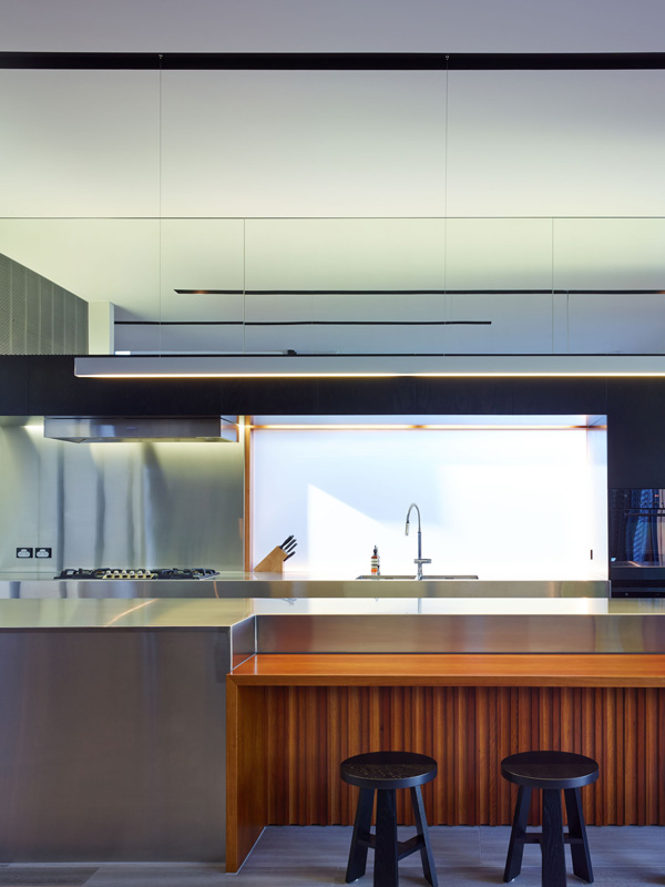 stainless steel kitchen counter