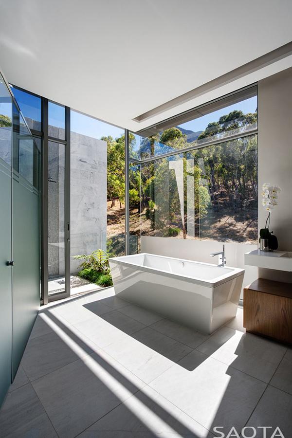bathroom glass walls