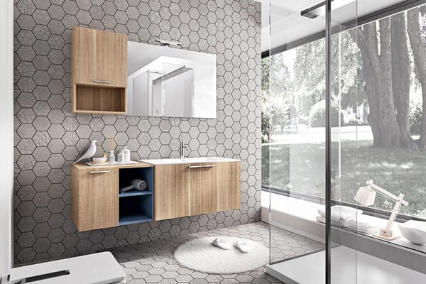 hexagon pattern bathroom