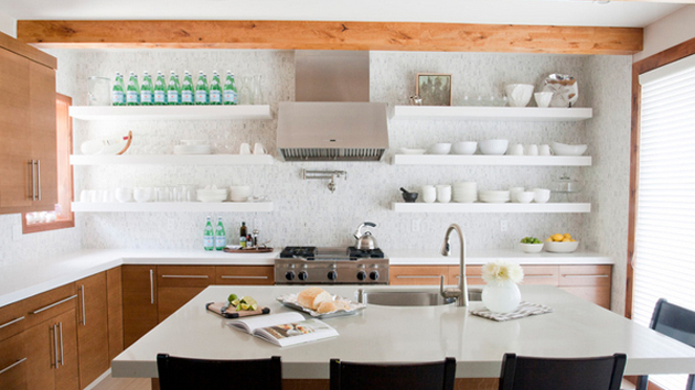 20 Contemporary Floating Shelves in the Kitchen | Home ...