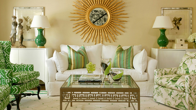 20 Wonderful White And Green Living Rooms Home Design Lover