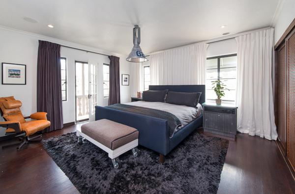 white drapes bedroom