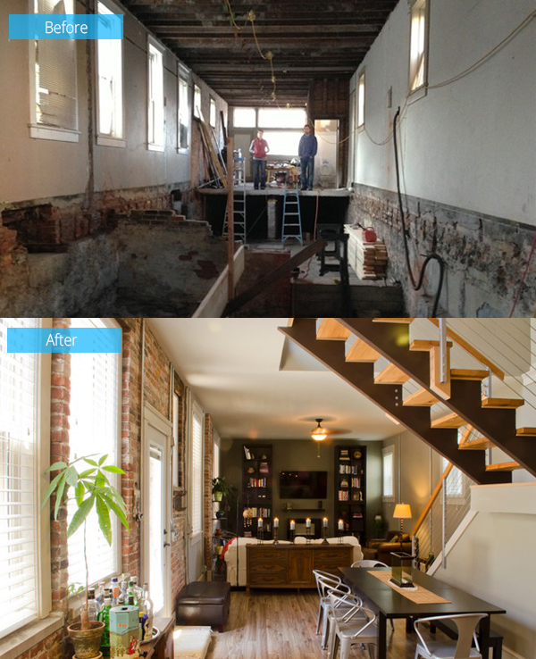 Before And After Sandunsky Loft Gets A Beautiful