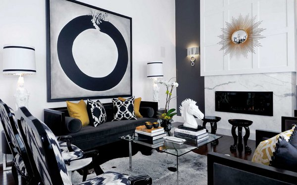 black sofa designs