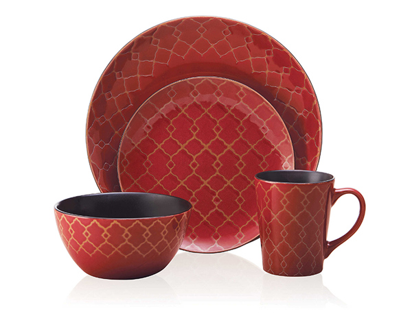 Everyday Vintage Mix And Match 16-Piece Dinnerware Set In Red