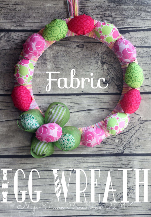 Fabric Egg Wreath