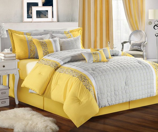 Yellow Curtains And Duvet Sets
