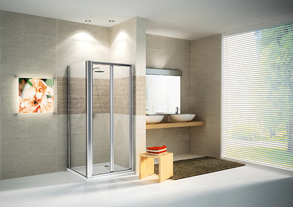 square shower design