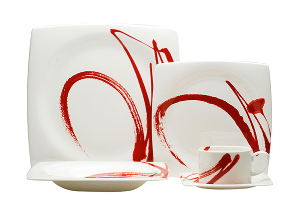 Paint It Red 5-piece Dinnerware Set