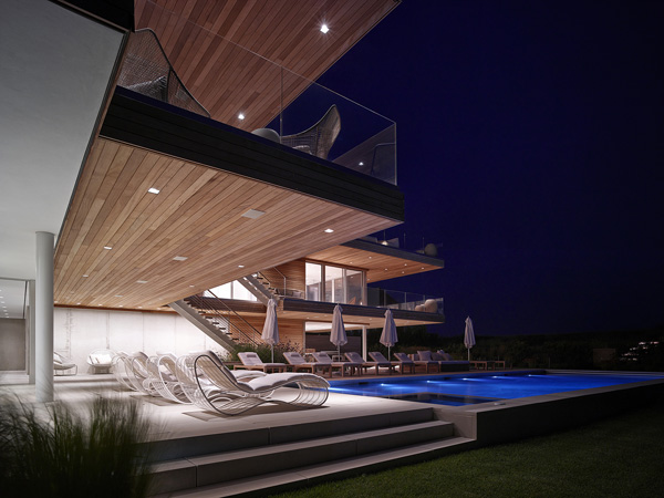 night pool lighting
