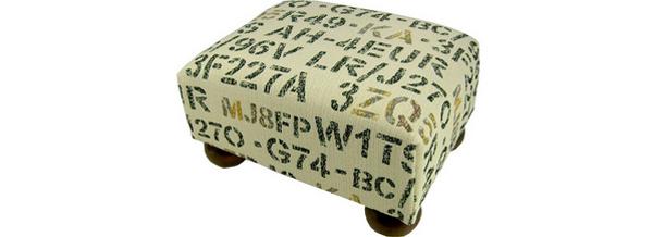 Stencil Footstool