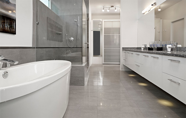 Ensuite Shower with modern tiles