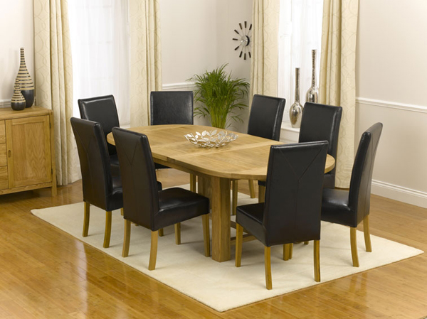 20 Outstanding Oval Oak Dining Room Tables