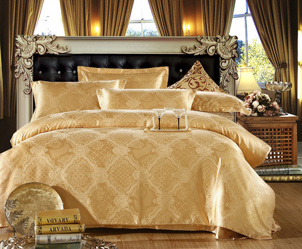 golden bed linens