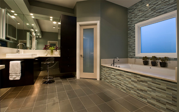 Honore-Contemporary Master Tile Bathroom