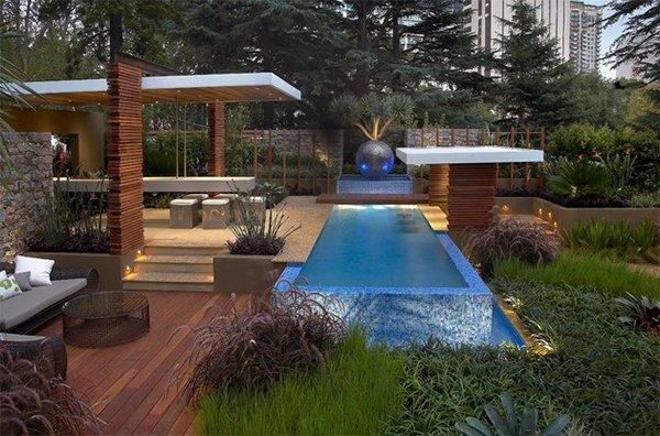 modern pool area