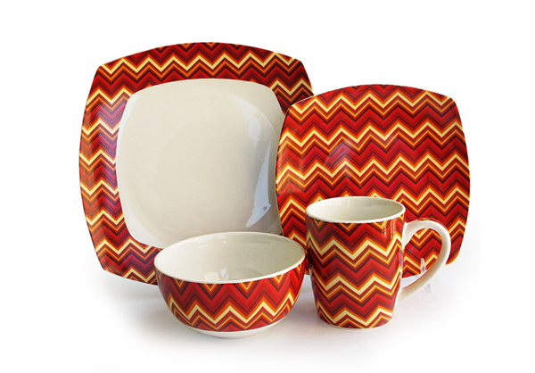16-Piece Zigzag Dinnerware Set