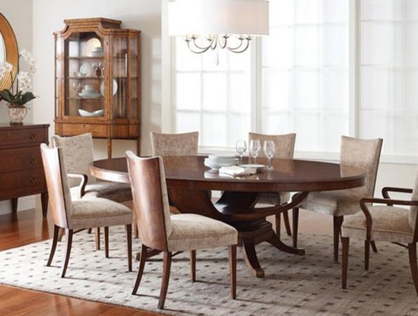 Charming circular oak dining room tables home design