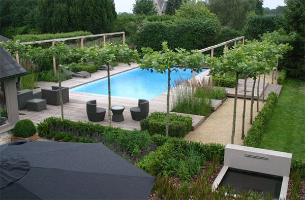 Swimming pool garden  20 Breathtaking Ideas for a Swimming Pool Garden | Home Design Lover