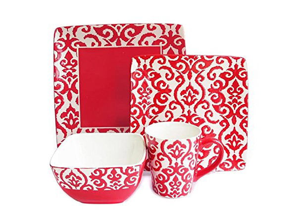 Waverly 5559-16RD Wax Relief 16-Piece Dinnerware Set  sc 1 st  Home Design Lover & 20 Bold and Stunning Red Dinnerware Sets | Home Design Lover