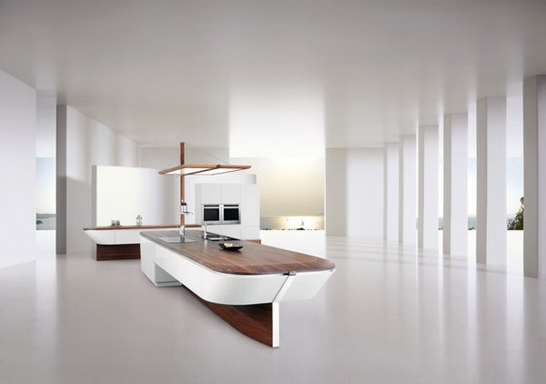 boat-shape kitchen