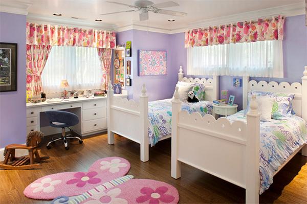 pastel flowers bed
