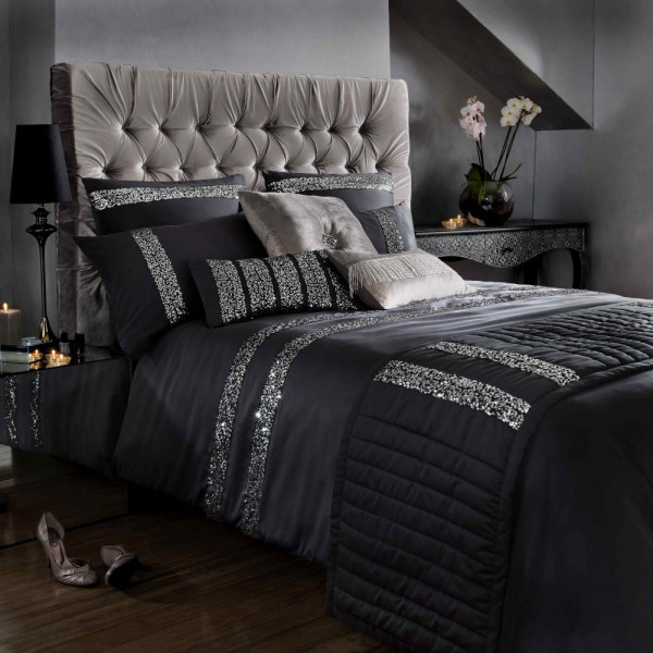 silver bed set 20 beautiful black bed linens home design lover 13148
