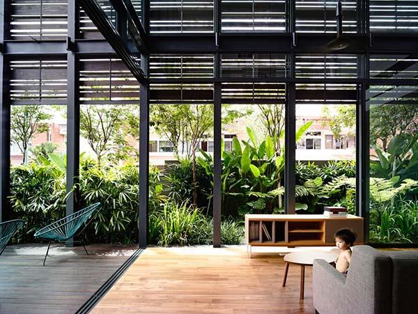timber slats house