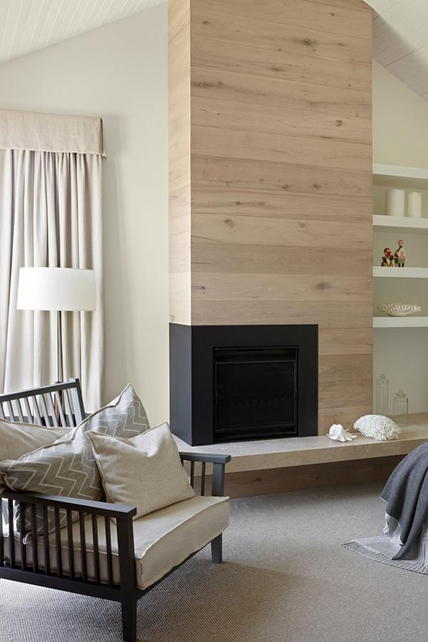 minimal fireplace