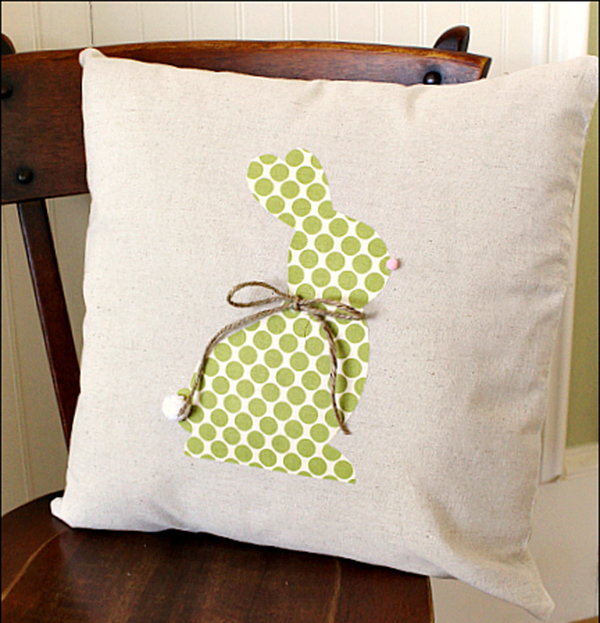No Sew Easter Bunny Pillow
