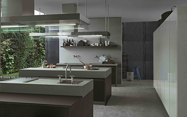 spacious kitchen layout