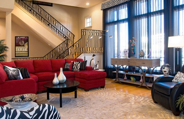 Decorating with red furniture Decorating Ideas Beige Walls Decorating Den Interiors Home Design Lover 22 Beautiful Red Sofas In The Living Room Home Design Lover